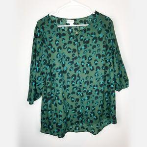 Ava & Viv leopard print blouse